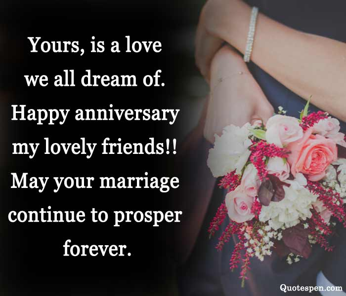happy wedding anniversary quotes for friend