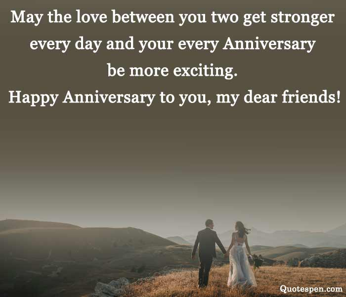 wedding anniversary wishes quotes for friend
