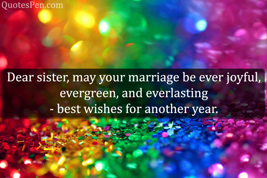 wedding-anniversary-wishes-to-sister