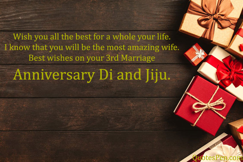 3rd-wedding-anniversary-wishes-for-di-and-jiju