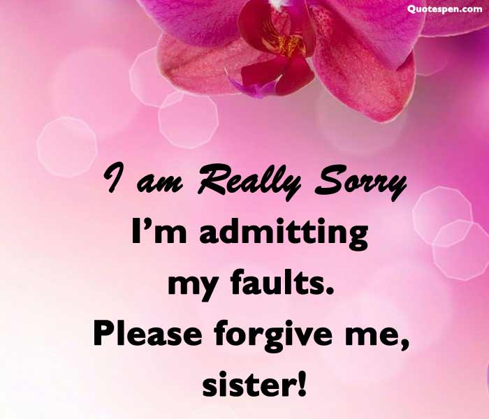 sorry quotes for sister