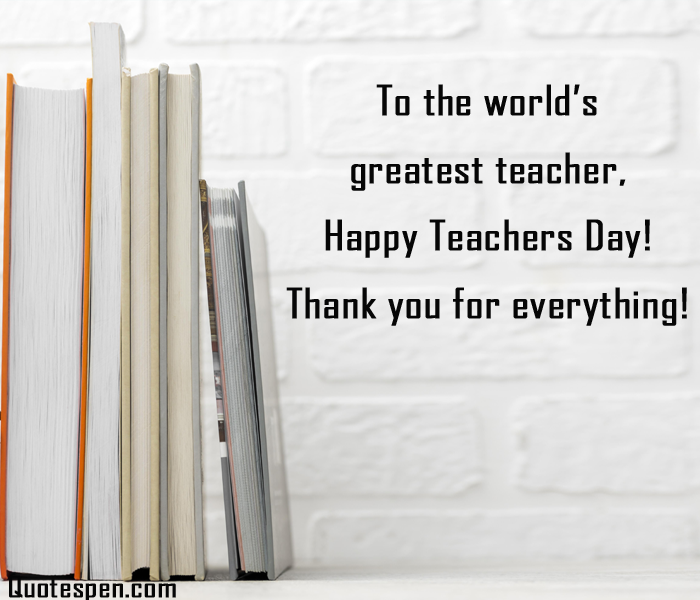 Thank you Messages for World Teachers Day